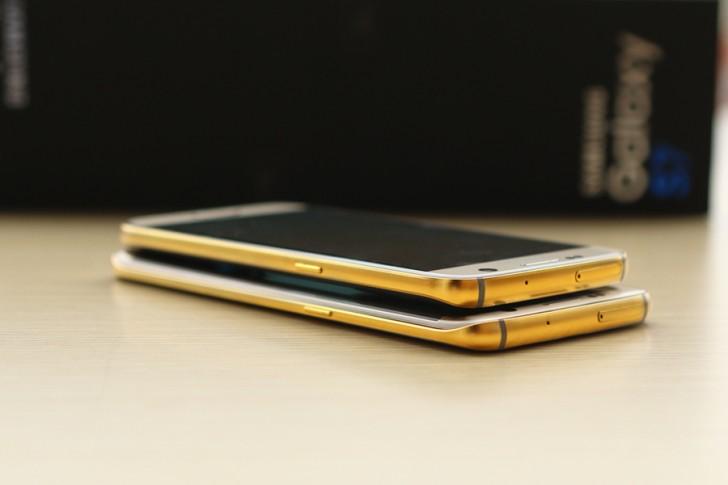 Позолоченный Samsung Galaxy S7 Edge
