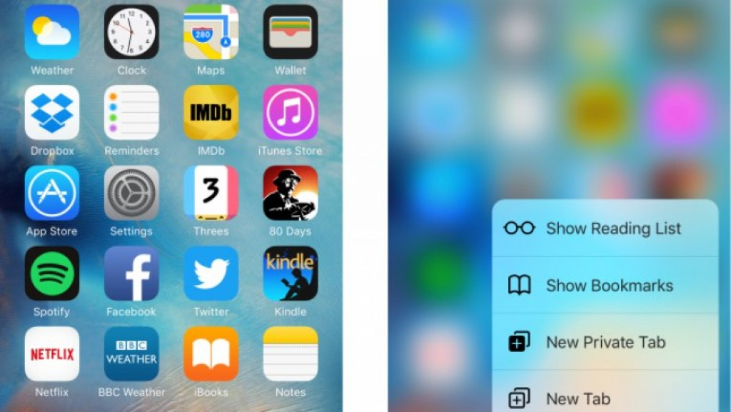 iOS 9 и 3D Touch на iPhone 6S