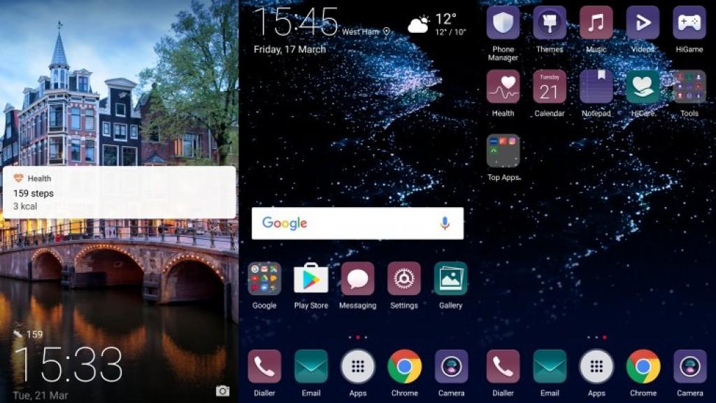 Интерфейс Huawei P10 Plus
