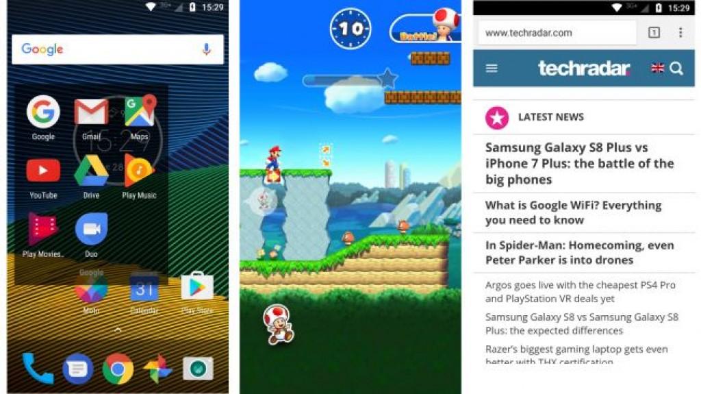 Интерфейс Moto G5