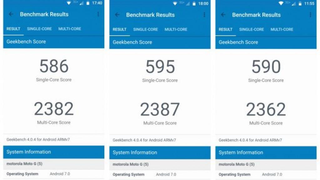 Тесты Moto G5
