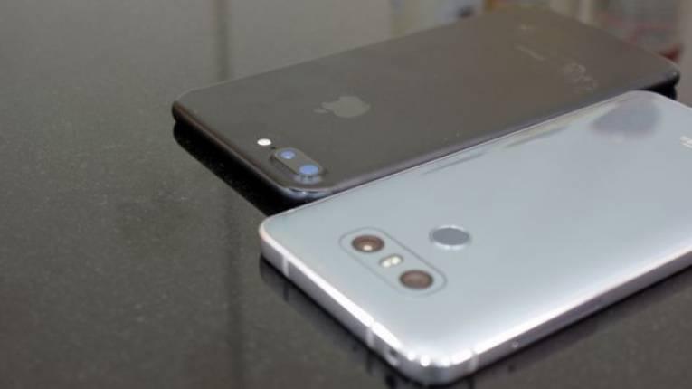 LG G6 и Apple iPhone 7