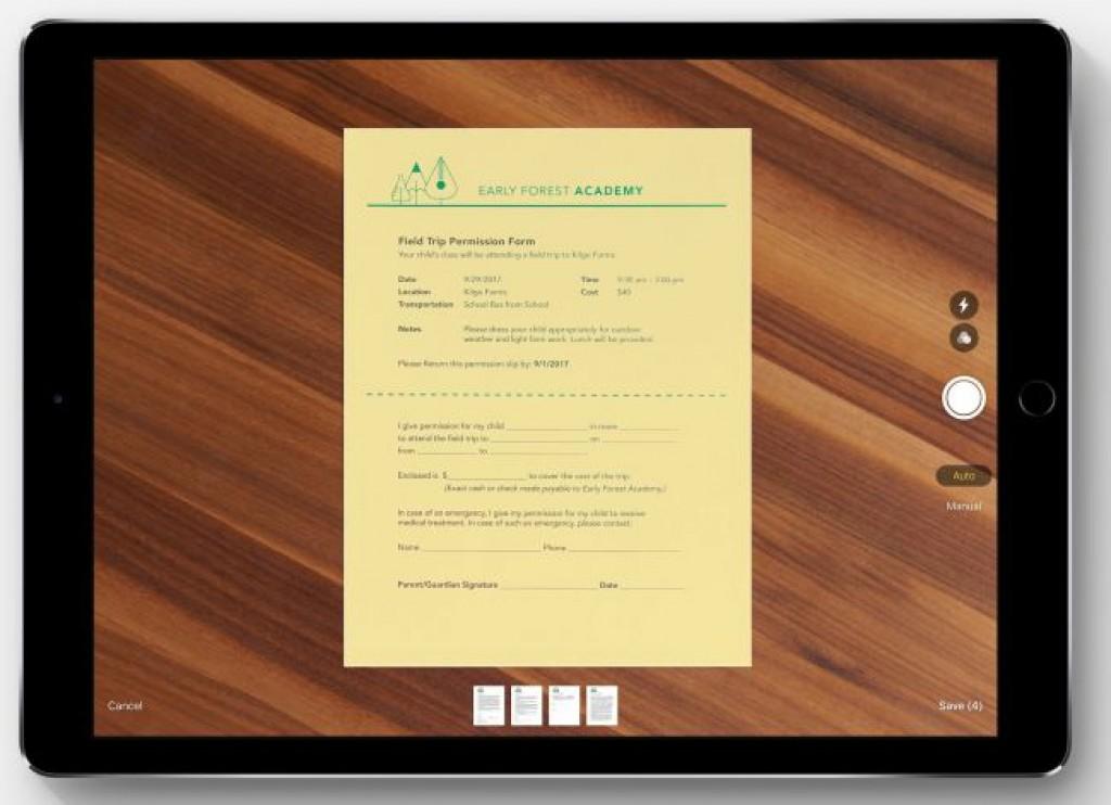 Обновление iOS 11 - Сканирование и подпись документов