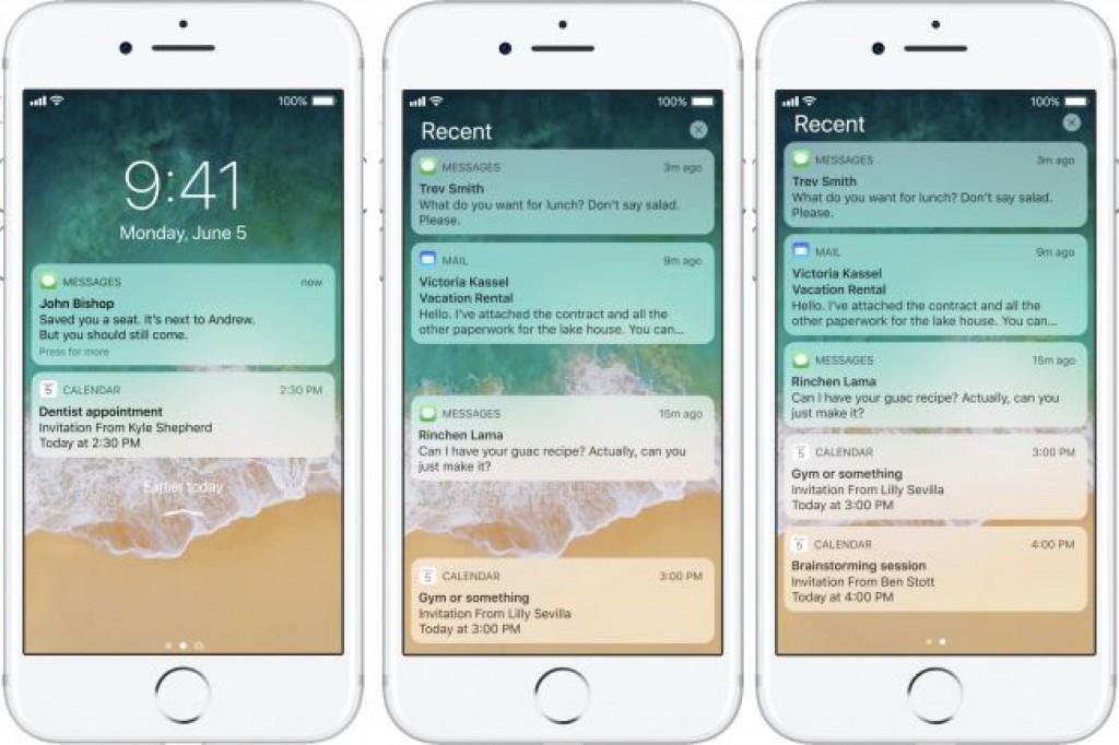 Обновление iOS 11 - Уведомления на экране блокировки