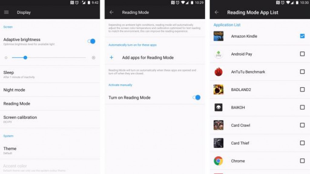 OnePlus 5 - Режим чтения