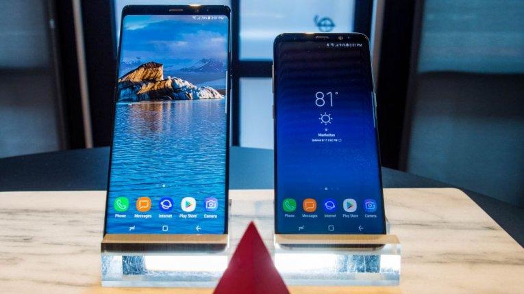 Сравнение Samsung Galaxy Note 8 и Galaxy S8
