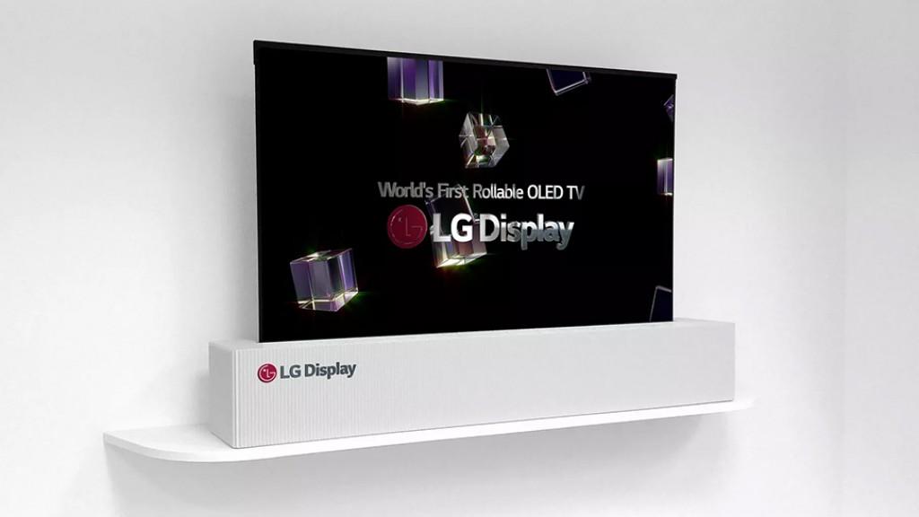 Сворачивающийся телевизор LG