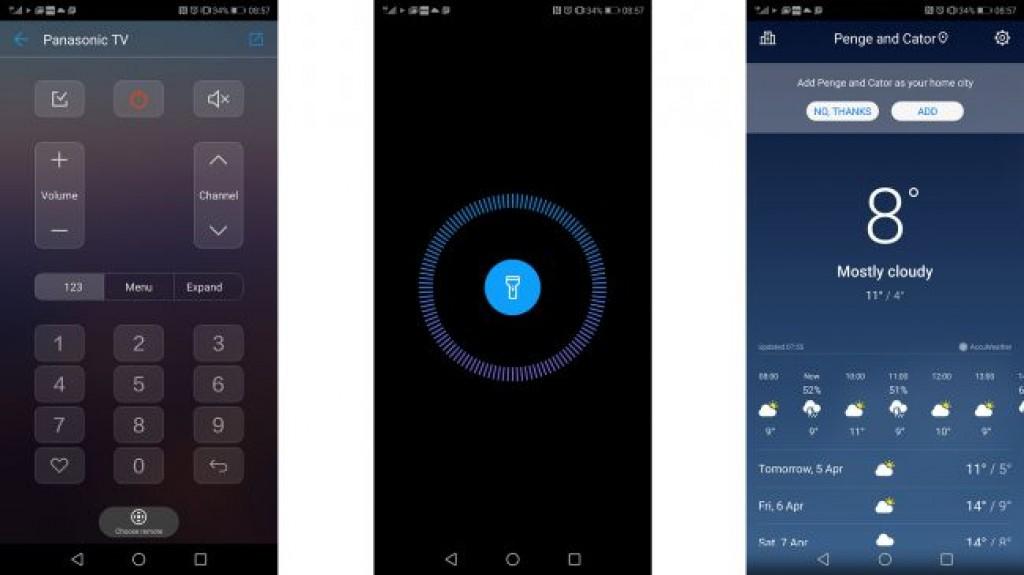 Интерфейс Huawei P20 Pro