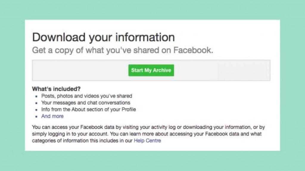 Удаление страницы Facebook