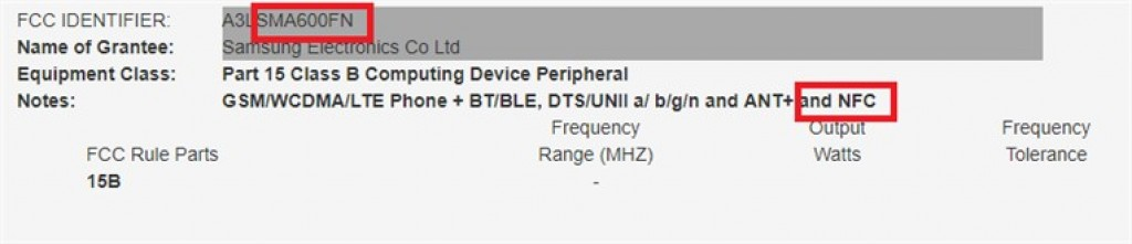 Samsung Galaxy A6 - NFC