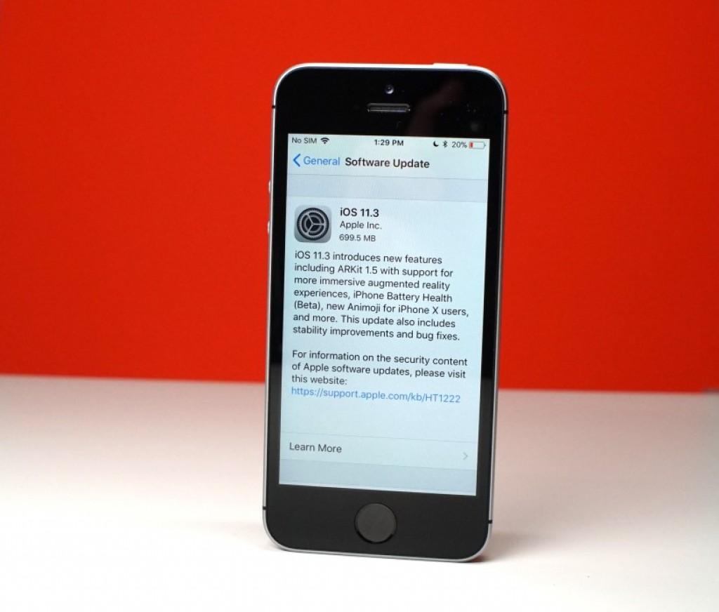 iOS 11.3 на iPhone SE