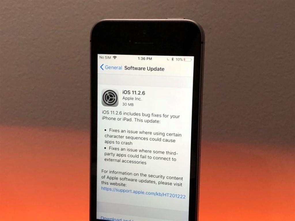 iPhone SE - Обновление iOS 11.2.6