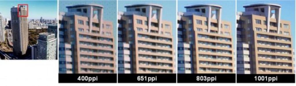 Изображение с плотностью 1001 PPI