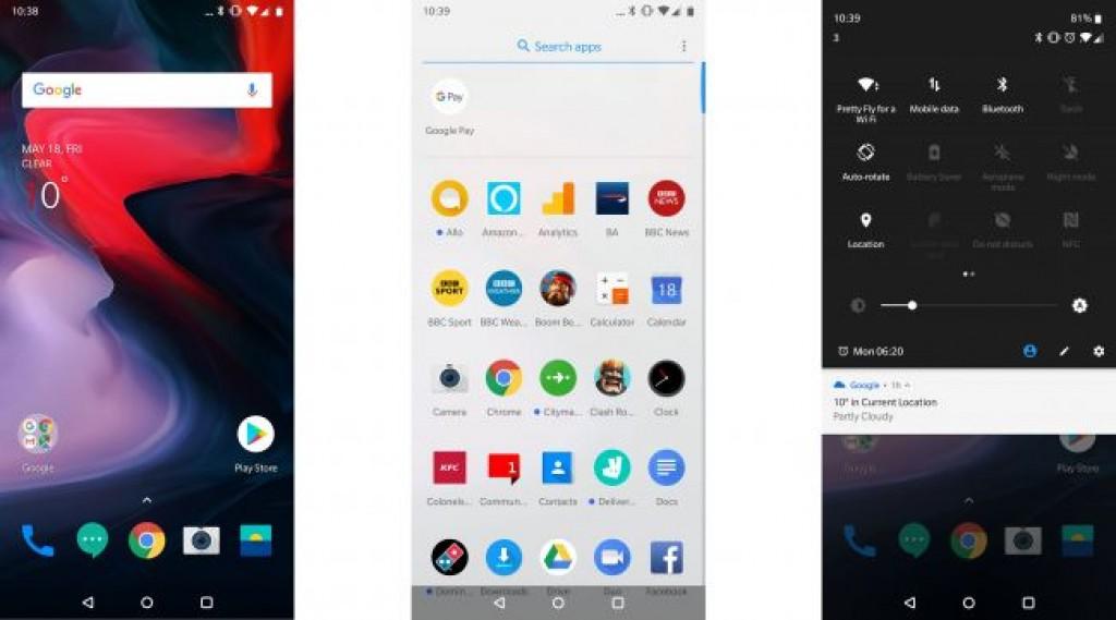 Интерфейс OnePlus 6