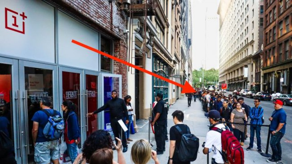 Очередь в магазин OnePlus