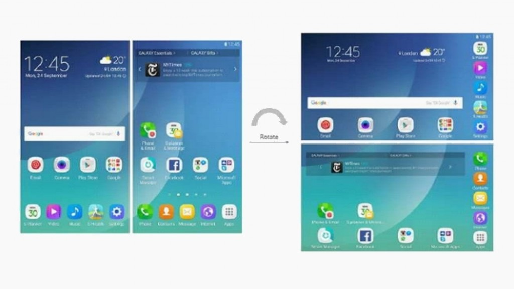 Патент интерфейса Galaxy X