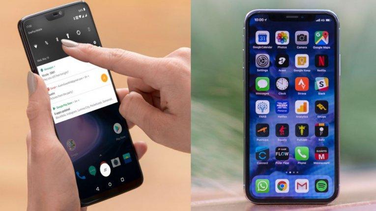Сравнение OnePlus 6 против iPhone X