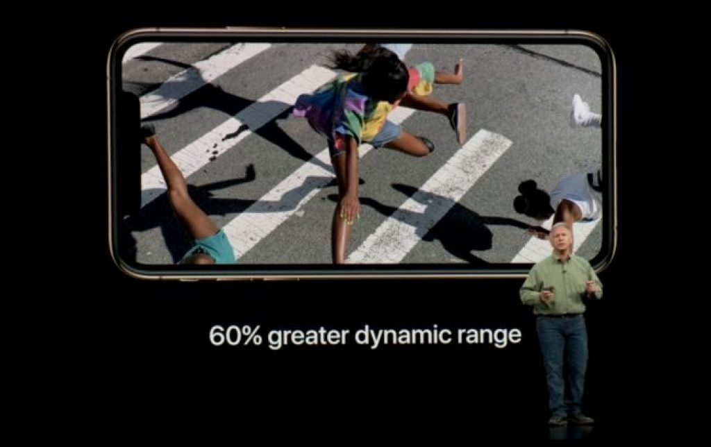 Динамический диапазон iPhone XS