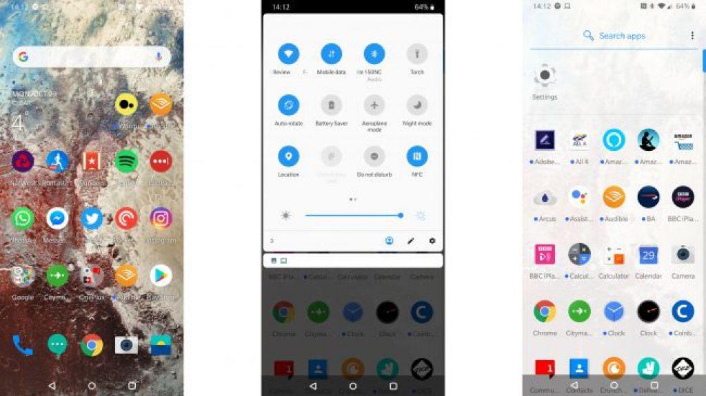 Интерфейс OnePlus 6T