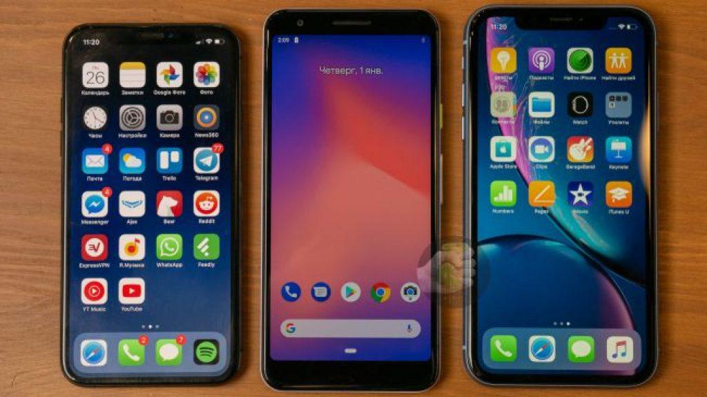 iPhone XS, Pixel 3A и iPhone XR
