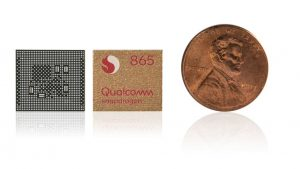 Размеры Snapdragon 865 в сравнении
