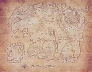 The Elder Scrolls - Карта Тамриэля