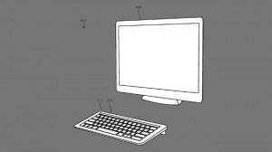 Патент на клавиатуру iMac