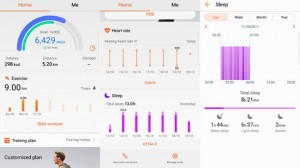 Интерфейс Huawei Band 2 Pro
