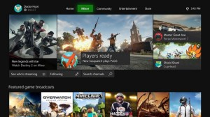 Интерфейс Xbox One X