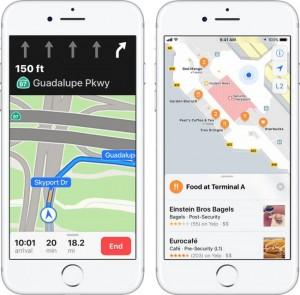 Обновление iOS 11 - Функции Apple Maps