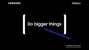 Приглашение на релиз Galaxy Note 8