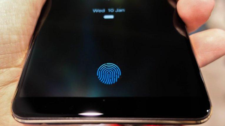 Сканер отпечатков пальцев на экране
