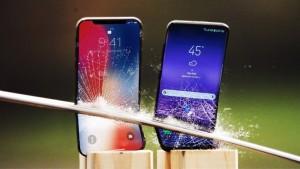Galaxy S9 против iPhone X