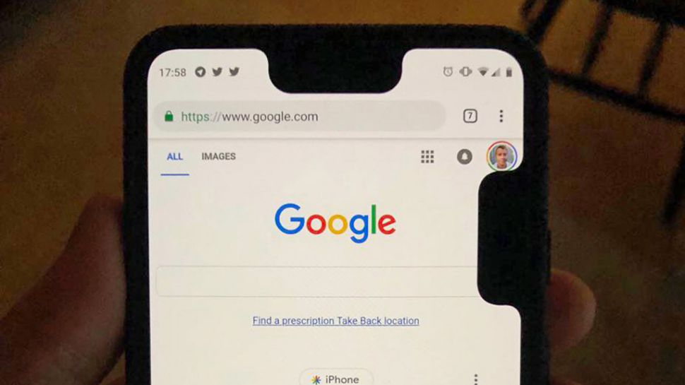 Вторая метка на Google Pixel 3 XL