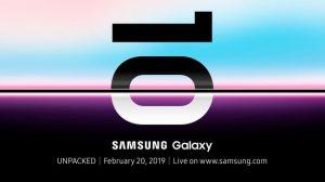 Приглашение на релиз Samsung Galaxy S10 Plus