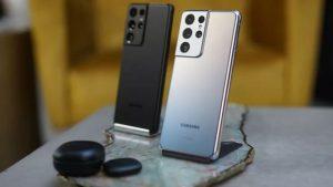 Белый и черный Samsung Galaxy S21 Ultra