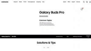 Galaxy Buds Pro на сайте Samsung