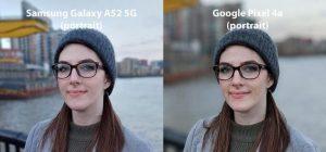 Сравнение портрета Galaxy A52 и Pixel 4a