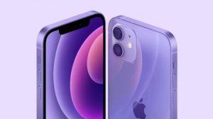 Фиолетовые iPhone 12 и iPhone 12 Mini