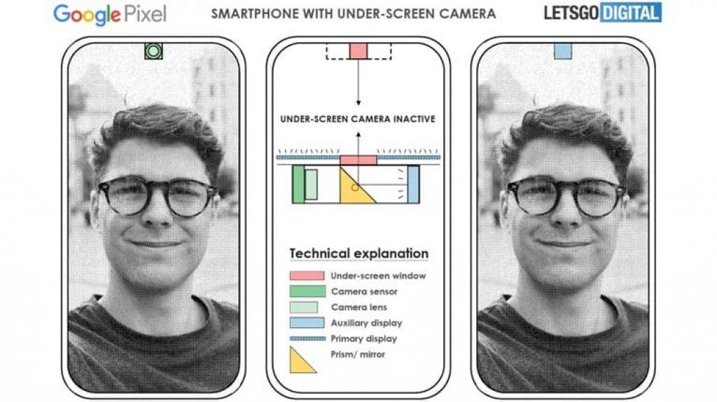 Патент камеры под экраном Google